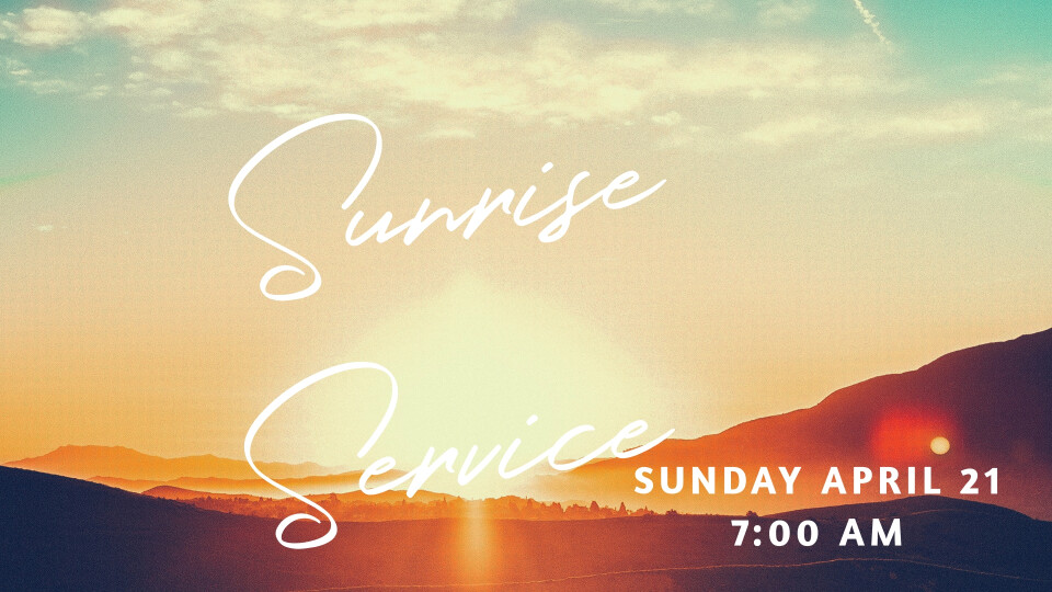 Easter Sunrise Communion 2019